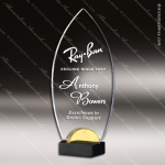 Acrylic Gold Accented Flame Award Employee Trophy Awards