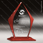 Acrylic Red Accented Diamond Award Employee Trophy Awards
