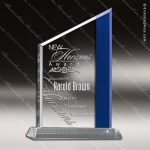 Acrylic Blue Accented Zenith Summit Award Employee Trophy Awards
