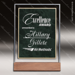 Acrylic Green Accented Marbleized Award Employee Trophy Awards