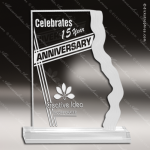 Acrylic  Clear Waterfall Edge Award Employee Trophy Awards