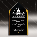 Acrylic Gold Accented Steeple Silhouette Award Employee Trophy Awards