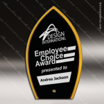 Acrylic Gold Accented Spire Silhouette Award Employee Trophy Awards