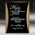 Acrylic Gold Accented Standing Reflection Plaque Award Employee Trophy Awards
