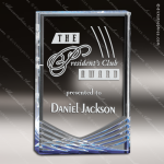 Acrylic Blue Accented Inspire Trophy Award Employee Trophy Awards