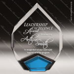 Acrylic Blue Accented Marquis Diamond Award Employee Trophy Awards