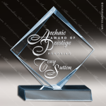Acrylic Blue Accented Diamond Trophy Award Employee Trophy Awards