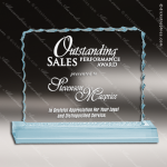 Acrylic Blue Accented Ice Edged Trophy Award Employee Trophy Awards