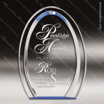 Acrylic Blue Accented Double Halo Arch Oval Trophy Award Employee Trophy Awards