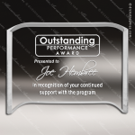 Acrylic  Clear Crescent Shape Award Employee Trophy Awards