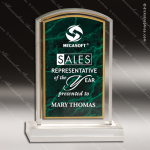 Acrylic Green Accented Marbleized Arch Trophy Award Employee Trophy Awards