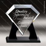 Acrylic Black Accented Diamond Award Employee Trophy Awards