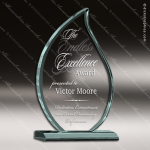 Acrylic  Jade Accented Flame Trophy Award Employee Trophy Awards