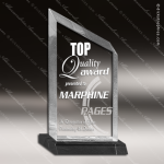 Acrylic Black Accented Clear Peak Wedge Trophy Award Employee Trophy Awards