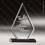 Acrylic Black Accented Clear Triangle Arrowhead Trophy Award Employee Trophy Awards