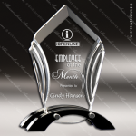 Acrylic Black Accented Ascent Award Employee Trophy Awards