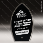 Acrylic Black Accented Spire Silhouette Award Employee Trophy Awards
