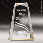 Acrylic Gold Accented Facet Wedge Award Employee Trophy Awards
