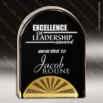 Acrylic Gold Accented Black Diamonds Arch Award Employee Trophy Awards