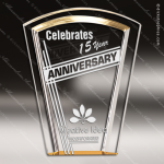 Acrylic Gold Accented Fan Halo Award Employee Trophy Awards
