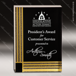 Acrylic Gold Accented Black Diamonds Rectangle Award Employee Trophy Awards