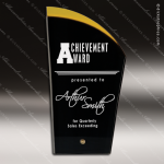 Acrylic Gold Accented Deco Silhouette Award Employee Trophy Awards