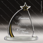 Acrylic Gold Accented Shooting Star Award Employee Trophy Awards