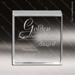 Acrylic  Clear Square Paperweight Award Employee Trophy Awards