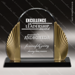 Acrylic Gold Accented Phoenix Arch Award Employee Trophy Awards