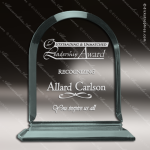 Acrylic  Jade Accented Arch Award Employee Trophy Awards