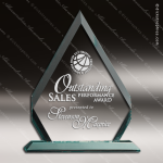 Acrylic  Jade Accented Arrowhead Award Employee Trophy Awards