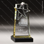 Acrylic Gold Accented Lasered Star Accent Award Employee Trophy Awards
