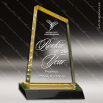 Acrylic Gold Accented Peak Trophy Award Employee Trophy Awards