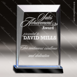 Acrylic Blue Accented Prism Trophy Award - Copy Employee Trophy Awards