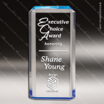 Acrylic Blue Accented Rectangle Lexus Award Employee Trophy Awards