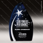 Acrylic Blue Accented Star Series Award Employee Trophy Awards