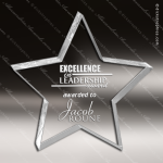 Acrylic  Clear Star Paperweight Trophy Award Employee Trophy Awards