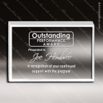 Acrylic  Clear Rectangle Straight Bevel Paperweight Trophy Award Employee Trophy Awards