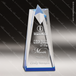 Acrylic Blue Accented Sculpted Star Award Employee Trophy Awards