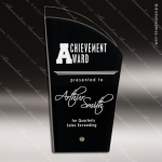 Acrylic Black Accented Deco Silhouette Award Employee Trophy Awards
