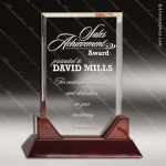 Acrylic  Rosewood Accented Rectangle Award Employee Trophy Awards