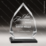 Acrylic Black Accented Diamond Impress Award Employee Trophy Awards
