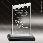 Acrylic Black Accented Frosted Ice Impress Award Employee Trophy Awards