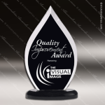 Acrylic Black Accented Flame Award Employee Trophy Awards