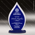 Acrylic Blue Accented Flame Award Employee Trophy Awards