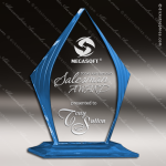 Acrylic Blue Accented Diamond Award Employee Trophy Awards