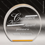 Acrylic Gold Accented Circle Reflective Award Employee Trophy Awards