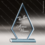 Acrylic Blue Accented Triangle Arrowhead Trophy Award Employee Trophy Awards