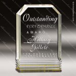 Acrylic Gold Accented Cornerstone Wedge Trophy Award Employee Trophy Awards