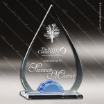 Acrylic Blue Accented Tear Drop Gemstone Award Employee Trophy Awards